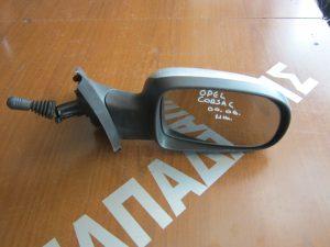 Opel Corsa 2000-2006 καθρεπτης δεξιος μηχανικος ασημι