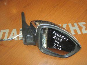 Peugeot 2008 2014-2017 καθρέπτης δεξιός ηλεκτρικά ανακλινόμενος χρώμιο