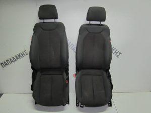 Seat Leon 2005-2009 με A/B δεξιό-αριστερό γκρι κάθισμα εμπρός,όχι αριστερό προσκέφαλο.