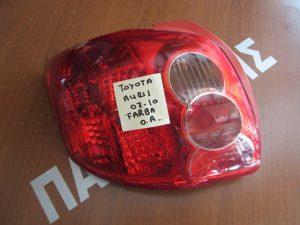 Toyota Auris 2007-2010 φανάρι πίσω αριστερό τύπος Farba