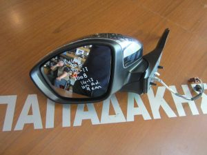 Peugeot 2008 2014-2017 καθρέπτης αριστερός ηλεκτρικά ανακλινόμενος 9 καλώδια χρώμιο νίκελ