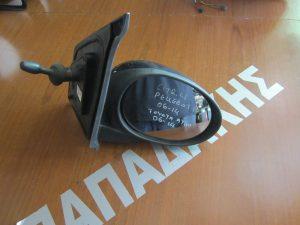 Citroen C1/Peugeot 107/Toyota Aygo 2006-2014 καθρέπτης δεξιός μηχανικός ανθρακί