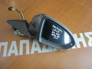 VW Golf 7 2013-2017 καθρέπτης δεξιός ηλεκτρικός και ηλεκτρικά ανακλινόμενος με φως ασφαλείας μολυβί