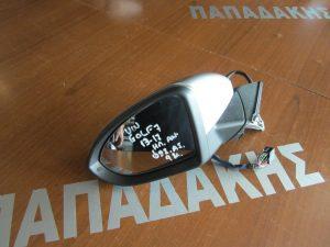 VW Golf 7 2013-2017 καθρέπτης αριστερός ηλεκτρικά ανακλινόμενος ασημί σκούρο φως ασφαλείας