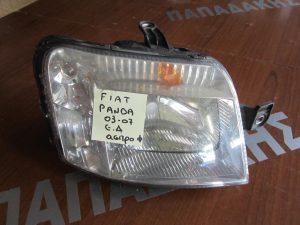 Fiat Panda 2003-2007 εμπρός δεξιό φανάρι άσπρη φύσα