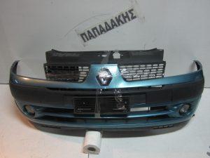 Renault Clio 2001-2006 προφυλακτήρας εμπρός μπλε ανοιχτό με προβολείς