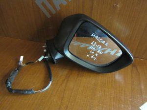 Mazda 6 2013-2017 καθρέπτης δεξιός ηλεκτρικά ανακλινόμενος μαύρος 2 φις