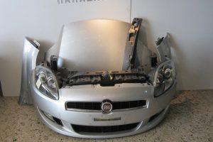 Fiat Bravo 2007-2014 ασημί: καπό- 2 φτερά- 2 φανάρια- προφυλακτήρας κομπλέ- μετώπη με ψυγεία κομπλέ- αντικραδασμικό