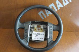 Land Rover Freelander 2 2007-2014 βολάν τιμονιού μαύρο δερμάτινο με χειριστήρια