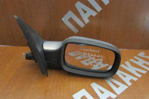 Renault Megane 2002-2008 ηλεκτρικά ανακλινόμενος καθρέπτης δεξιός σκούρο ασημί 9 καλώδια