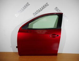 Mazda 2 2014-2018 πόρτα εμπρός αριστερή κόκκινη