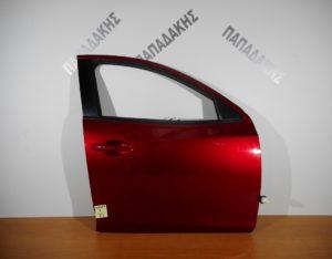 Mazda 2 2014-2018 πόρτα εμπρός δεξιά κόκκινη