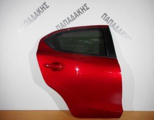 Mazda 2 2014-2018 πόρτα πίσω δεξιά κόκκινο