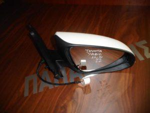 Toyota Yaris 2011-2014 καθρέπτης δεξιός ηλεκτρικός 5 καλώδια άσπρος