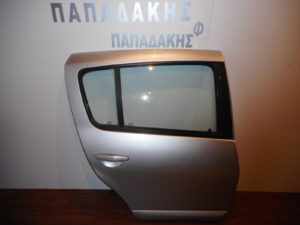 Dacia Sandero 2007-2012 πίσω δεξιά πόρτα ασημί με φάσα