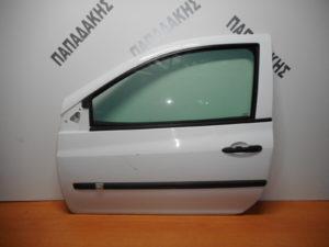Renault Clio 2006-2013 πόρτα αριστερή δύθυρη άσπρη
