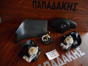 Σετ AirBag Nissan Pixo 2009-2014 μαύρα