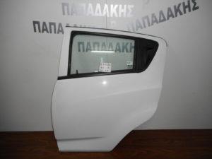 Chevrolet Spark 2010-2015 πόρτα πίσω αριστερή άσπρη