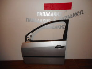 Ford Fiesta 2002-2006 πόρτα εμπρός αριστερή ασημί