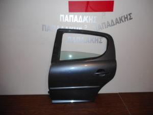 Peugeot 207 2006-2012 πόρτα πίσω αριστερή μολυβί