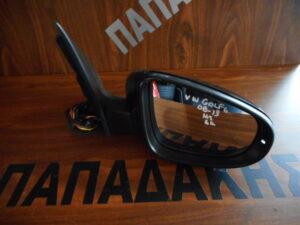 VW Golf 6 2008-2013 ηλεκτρικός καθρέπτης δεξιός μαύρος 6 καλώδια