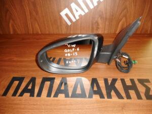 VW Golf 6 2008-2016 ηλεκτρικός καθρέπτης αριστερός μαύρος 6 καλώδια